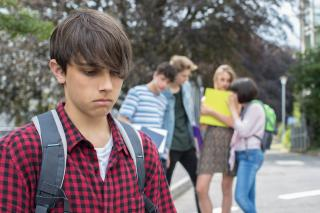 lonely youth excluded by peers